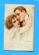 CORBELLA-SUPERBE Jeune Femme éteignant Un Jeune Homme-carte Italienne    --a Voyagé En 1917-édition - Corbella, T.