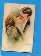 CORBELLA-SUPERBE Le Baiser-carte Italienne    --a Voyagé En 1917-édition - Corbella, T.