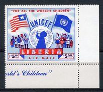 LIBERIA  -  1954 AIRMAIL  PROMOTION OF UNICEF    M832 - Liberia