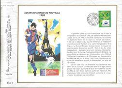 DOCUMENT OFFSET FDC 1995 COUPE DU MONDE DE FOOTBALL FRANCE 98 - FDC