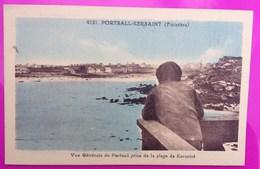 Cpa Vue Générale Portsall Prise De La Plage De Kersaint Carte Postale 29 Finistère Rare Proche Ploudalmézeau Landunvez - Kersaint-Plabennec