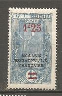 CONGO -  Yv. N° 101  *  1f25 S 1f   Libreville  Cote  1,2 Euros  BE R 2 Scans - Congo Français (1891-1960)