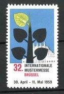 Reklamemarke Brüssel, 32. Internationale Mustermesse 1959, Messelogo - Cinderellas