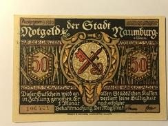 Allemagne Notgeld Naumburg 50 Pfennig - [ 3] 1918-1933 : République De Weimar