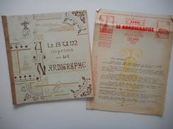 TOULON, LE NARDIGRAPHE, ALBUM IMPRIME AVEC LE NARDIGRAPHE, AVEC LETTRES EN TETE 1938 - Livres, BD, Revues