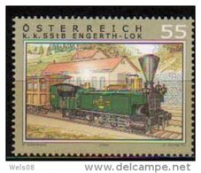 """Österreich 2004: """"Eisenbahnen"""" Postfrisch (siehe Scan/Foto) - 1945-.... 2. Republik"""