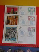 Coté 4€ > UNESCO,Haïti,Corée,Pakistan > 15.11.1980 > Paris > Lot 3 FDC 1er Jour - 1980-1989
