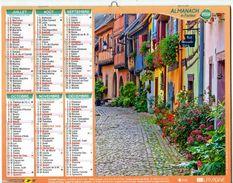 Calendrier Almanach La Poste PTT 2016 Eguishem ( Haut-Rhin 68) Et Annecy (Haute-savoie 74) - Calendars