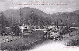 65)  ARGELS  GAZOST  - Le Pont De Tillos Et Gave De Pau - Route De Beaucens  (  Attelage  ) - Argeles Gazost