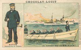 CHROMOS Chromo Chocolat LOUIT Militaria Marine Le Canot Du Commandant    2 Scans - Louit