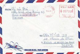 "Vietnam 1991 Hochiminh Meter Pitney Bowes-GB ""6300"" 002 Cover - Vietnam"