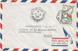 Madagascar 1961 Station Alaotra Flag Cover - Madagaskar (1960-...)
