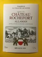 5781 - Château Rochefort 1999 Allaman Propriété De La Ville De Lausanne Suisse - Labels