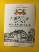 5782 - Abbaye De Mont  1999 Propriété De La Ville De Lausanne Suisse - Labels
