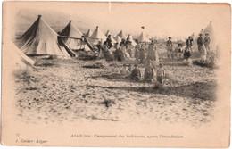 Aïn-Séfra - Campement Des Habitants, Après L\'inondation - Algérie