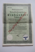 Rare  100 Reichsmark  Sarrebrück 1941 Valable Qu'en Moselle - Non Classificati