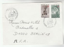 1982 FRANCE COVER Stamps RED CROSS, Jules Verne BALLOON, SQUID To Germany , Ballooning Fish - France
