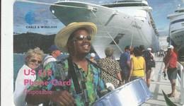 Virgin Islands - Man Drums Cruiseship - Virgin Islands