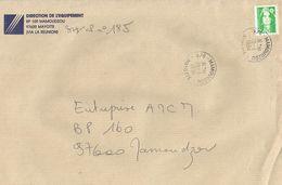 Mayotte France 1994 Mamoudzou 2.40F Marianne De Briat Domestic Cover - Brieven En Documenten