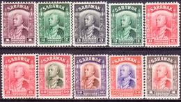 SARAWAK 1934-41 SG #106//120 MH Part Set 10 Stamps Of 26 CV £58.25 - Sarawak (...-1963)