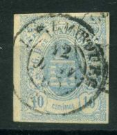 LUXEMBOURG  (  POSTE  ) : Y&T N°  6  TIMBRE  TRES  BIEN OBLITERE , A  VOIR . - 1859-1880 Wappen & Heraldik