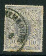 LUXEMBOURG  (  POSTE  ) : Y&T N°  17  TIMBRE  BIEN OBLITERE , A  VOIR . - 1859-1880 Armoiries