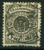 LUXEMBOURG  (  POSTE  ) : Y&T N°  40  TIMBRE  TRES  BIEN OBLITERE , A  VOIR . - 1859-1880 Wappen & Heraldik