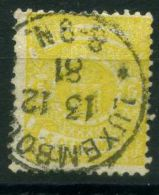 LUXEMBOURG  (  POSTE  ) : Y&T N°  29  TIMBRE  TRES  BIEN OBLITERE , A  VOIR . - 1859-1880 Coat Of Arms