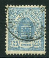 LUXEMBOURG  (  POSTE  ) : Y&T N°  45  TIMBRE  TRES  BIEN OBLITERE , A  VOIR . - 1859-1880 Wappen & Heraldik