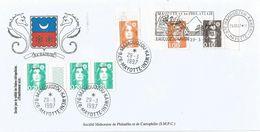 Mayotte France 1997 Mamoudzou Kaweni 0.20F Marianne De Briat Overprint Domestic Cover - Brieven En Documenten
