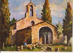 L40B031 Et 032 - Lot De Deux Tableau De Colombini -  Chapelle Et Paysage Provençal - Yvon - Paintings