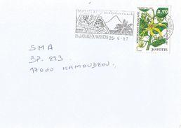 Mayotte France 1997 Mamoudzou Kaweni Ylang Ylang Orchid Perfum Cover - Brieven En Documenten