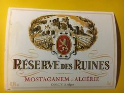 5789 - Réserve Des Ruines Mostaganem Algérie - Etiquettes