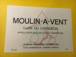 5791 - Mouln-à-Vent Clos Du Carquelin Domaine Labruyère - Beaujolais