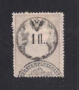 1 Austria Revenue  1 Fl. 1866 - Papier Weiss - Gezähnt 12 U. 12 1/2 - Mit WASSERZEICHEN - Steuermarken