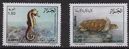 1992 Algérie N° 1029 Et  1030  Nf** MNH . Faune Marine .Hippocampe , Tortue . - Algerien (1962-...)