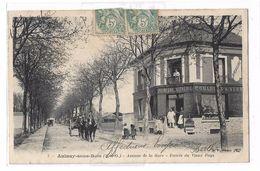 CPA 7 Aulnay Sous Bois Seine Et Oise Avenue De La Gare Entrée Du Vieux Pays Quincaillerie Animée Circulée 1907 - Aulnay Sous Bois
