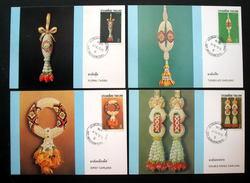 Thailand Maximum Cards 1987 International Letter Writing Week - Thailand