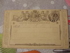 Oct 1871 - Belgique / Belgium - Entier Postal / Postal Stationary - Carte - Correspondance - 1869-1888 Lion Couché