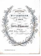 Carte D'Honneur. Pensionnat De Melles Lartizien à St-Omer. Année 1870. - Diplômes & Bulletins Scolaires