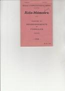 AIDE MEMOIRE - ECOLE D'APPLICATION DU GENIE  -48 PAGES - ANNEE 1955 - Documents