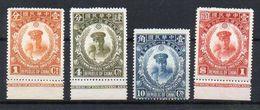 Chine N° 213 à 216 (Tchang Kaï Check) - N° 213 Et 214 Neufs (*) (neufs SANS Gomme), N° 215 Et 216 Neufs Avec Adhérences - China