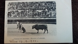 CPA CORRIDA COURSES DE TAUREAUX REVERTE A L ESTOCADE NIMES 17 9 1900 PRECURSEURS - Stierkampf