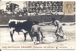 Corrida Torero Taureau - Los Hermanos Gallos Despues De Torear Al Alimon - Andere