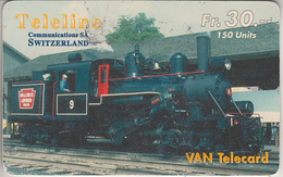 SWITZERLAND - PHONE CARD - TAXCARD SUISSE ***   PRÉPAID CARD - TELELINE & TRAIN - ZUG   *** - Eisenbahnen