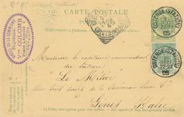 YY620 - Entier Postal Armoiries OSTENDE Station 1905 Vers GENES Italie - Cachet Hotel De La Commune Veuve Colomb - Entiers Postaux