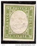1855-61  Yvert  10* Vert  ( Peut-etre Emeraude) - Sardinia