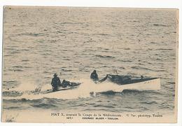 COURSE DE CANOT AUTOMOBILE - N° 167 - ALGER TOULON - FIAT X COURANT LA COUPE DE LA MEDITERRANEE - Postkaarten