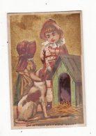 Chromo  MAISON CLAUDIUS  à Gannat    Fille Et Chien - Chromos