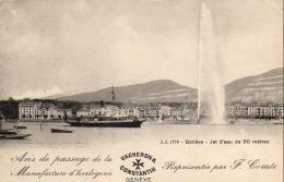 SUISSE GE GENÈVE Jet D'Eau De 90 Mètres  ........ ( Avis De Passage VACHERON CONSTANTIN ) - GE Ginevra